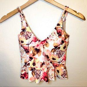 NWOT RARE Kortni Jeane Watercolor Floral Swim Top
